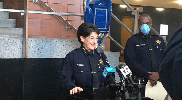 Interim Oakland Police Chief Susan E. Manheimer at press conference on June 3, 2020