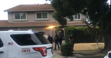 Law enforcement on July 29, 2019 searches the home of Santino Legan, the alleged shooter who killed three people at the Gilroy Garlic Festival.