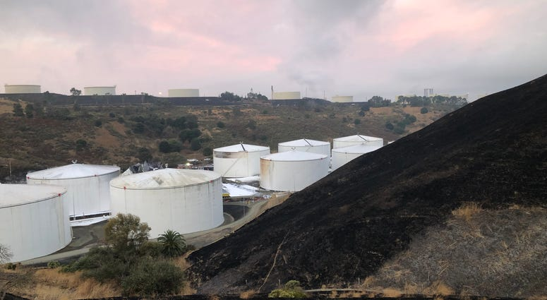 Two fuel tanks were destroyed in an explosion and fire at the NuStar Energy facility in Crockett on Oct. 15, 2019.