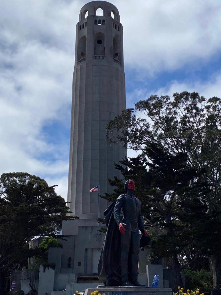 San Francisco's Christopher Columbus statue was vandalized late last week.