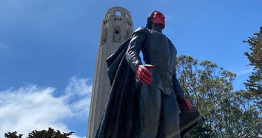 San Francisco's Christopher Columbus statue was vandalized late last week.