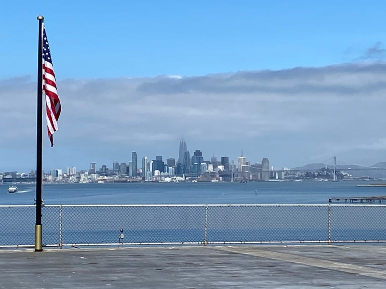 View of the Bay from USS Hornet