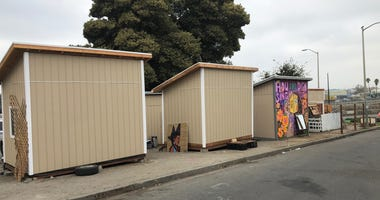 A cluster of sheds were built for people who are homeless by volunteers who undertook the charitable project in Oakland's Vantage Point Park without seeking official approval.