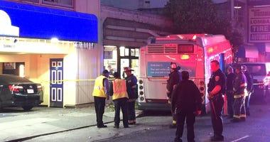 Muni bus crash scene