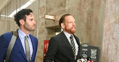 Curtis Briggs, right) and Tyler Smith are co-counsel for Ghost Ship defendant Max Harris.