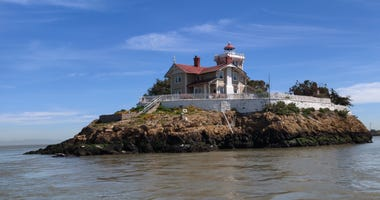 The East Brother Light Station in the San Francisco Bay near Richmond.