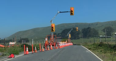 Caltrans has begun working on a section of Highway 1 near Bodega Bay that has been crumbling.