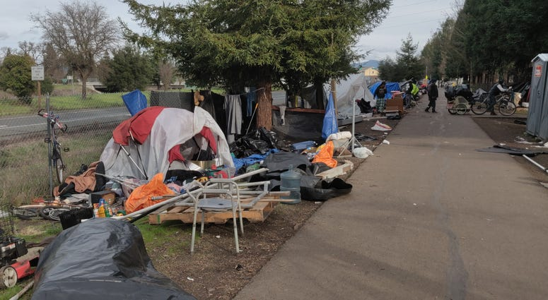 There was recently a fire in the sprawling homeless camp on the Joe Rodota Trail in Santa Rosa, raising safety fears among neighbors in early 2020.