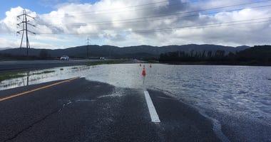 Flooding on Highway 37