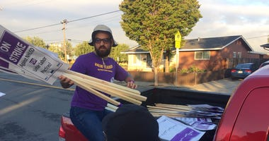 Picket signs are unloaded as teachers launch strike in New Haven Unified district