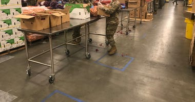 California National Guard Lend a Hand at Second Harvest Food Bank in San Jose During Coronavirus Shelter in Place