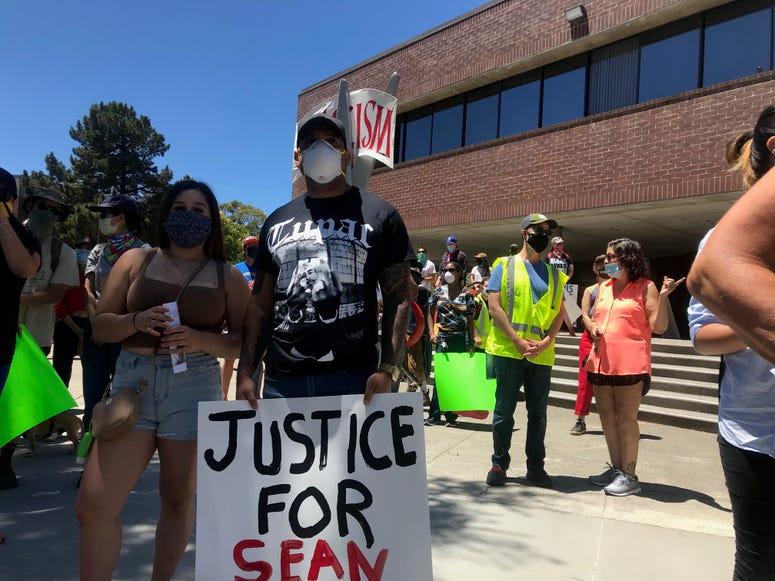 Protest in Vallejo for Sean Monterrosa, July 12, 2020