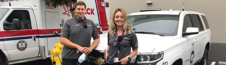 Behavioral Health Clinician Mallorie McGregor and EMT Spencer Hink make up a new Alameda County response team focused on mental health.