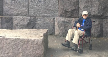 Jim Henderson at FDR Memorial