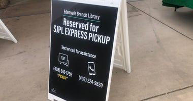 San Jose Public Library Express Pickup, June 15, 2020