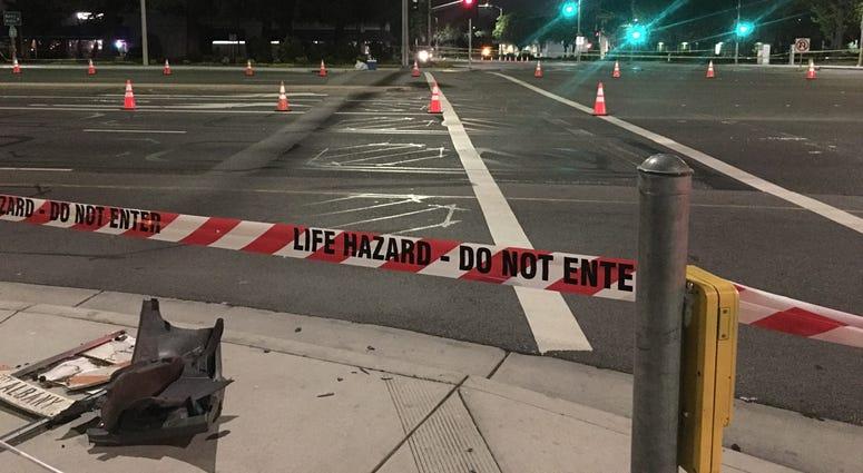 Crash scene in Sunnyvale