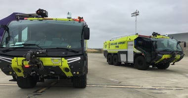 Oakland International Airport recently acquired two new firefighting trucks.