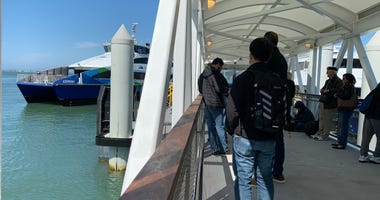 The Richmond Ferry Arrives at The San Francisco Ferry Building