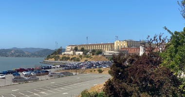 An outside view of San Quentin State Prison, where COVID-19 has infected more than 1,300 prisoners.