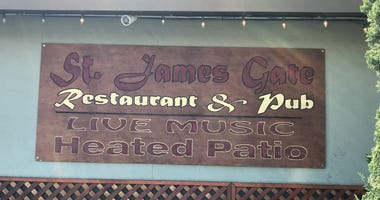 St. James Gate pub in Belmont was seen serving food and drink in its barroom despite a statewide shelter in place order.