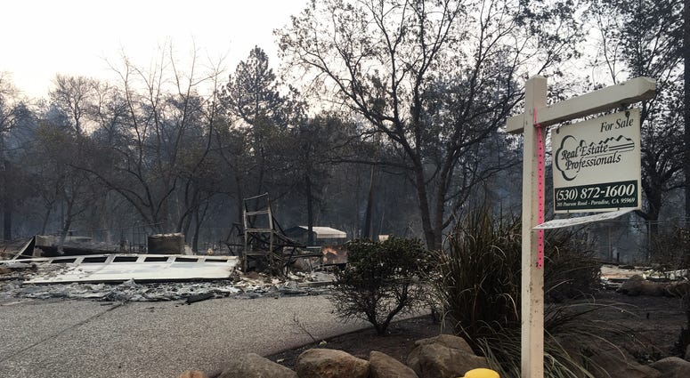 Home for sale destroyed by Camp Fire in Paradise, CA