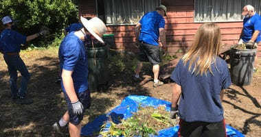 Trees were trimmed, a fence built and food delivered for a San Carlos veteran.