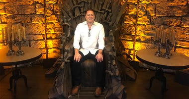 Liam on the 'Iron Throne' at 25 Lusk