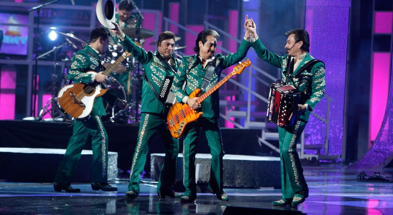 Musical group Los Tigres Del Norte performs during the 9th annual Latin GRAMMY awards in Houston, Texas, 2008.