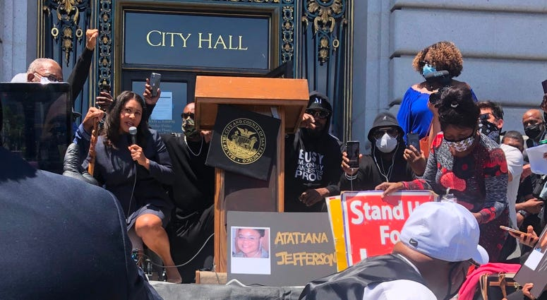 Black Lives Matter Rally and Kneel-In in San Francisco, June 1, 2020