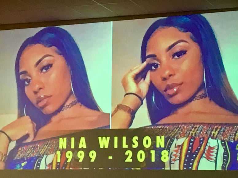 Mourners gathered on August 3 for the funeral of Nia Wilson, an Oakland teenager who was fatally stabbed at a BART station last month.