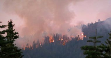 The North Fire broke out in the Tahoe National Forest on Sept. 3, 2018k forcing campers to evacuate.