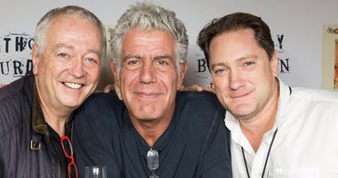 Chef Roland Passot, Anthony Bourdain and Liam Mayclem