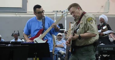"Inmates and prison staff played a concert called ""Prison Palooza"" at the California Medical Facility in Vacaville."