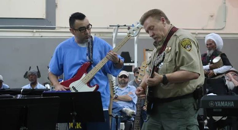 """Inmates and prison staff played a concert called """"Prison Palooza"""" at the California Medical Facility in Vacaville."""