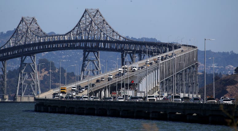 """The Richmond San Rafael Bridge, connecting Contra Costa County to Marin County will see the opening of a new bicycle/pedestrian path on Saturday, in the """"third lane area"""" (the right side) of the upper deck, open to cyclists and walkers in both directions."""