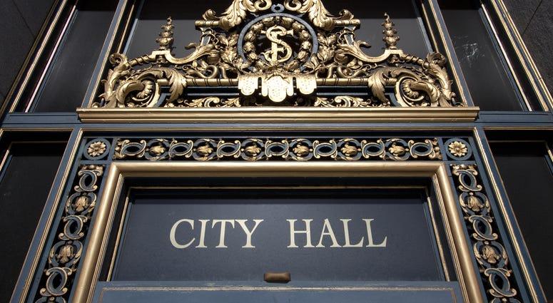 San Francisco City Hall entrance