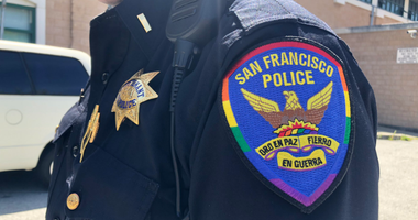 """San Francisco police are honoring the LGBTQ community by becoming the first in the nation to unveil a rainbow colored """"Pride Patch"""" along with a matching patrol vehicle to support Pride Month."""