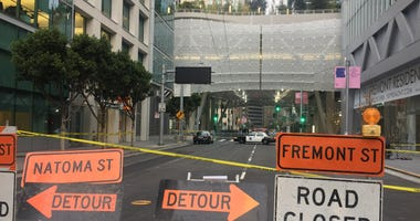 The Salesforce Transit Center abruptly closed when workers found cracks in two steel support beams.
