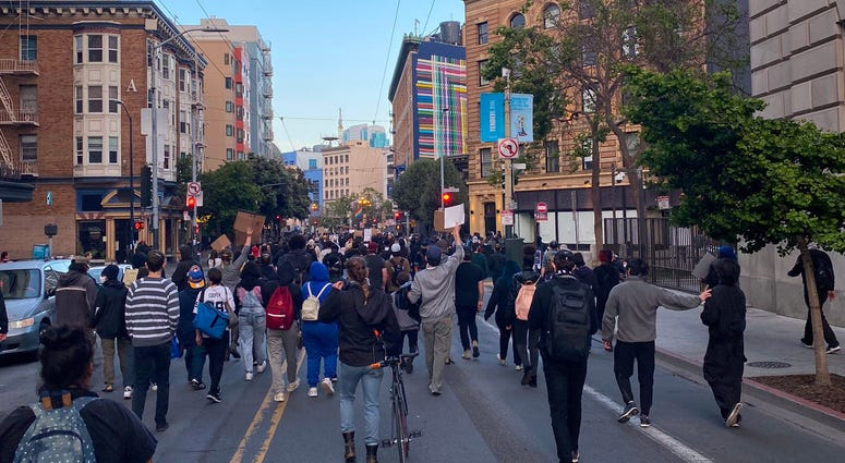 Demonstrations in San Francisco over the death of George Floyd.