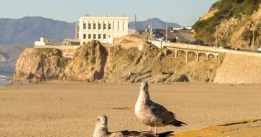 The Cliff House overlooks Ocean Beach in San Francisco.