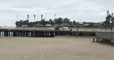 A beach in Santa Cruz.
