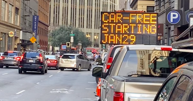 Private cars will be banned from a long section of Market Street beginning Jan. 29, 2020 in San Francisco.