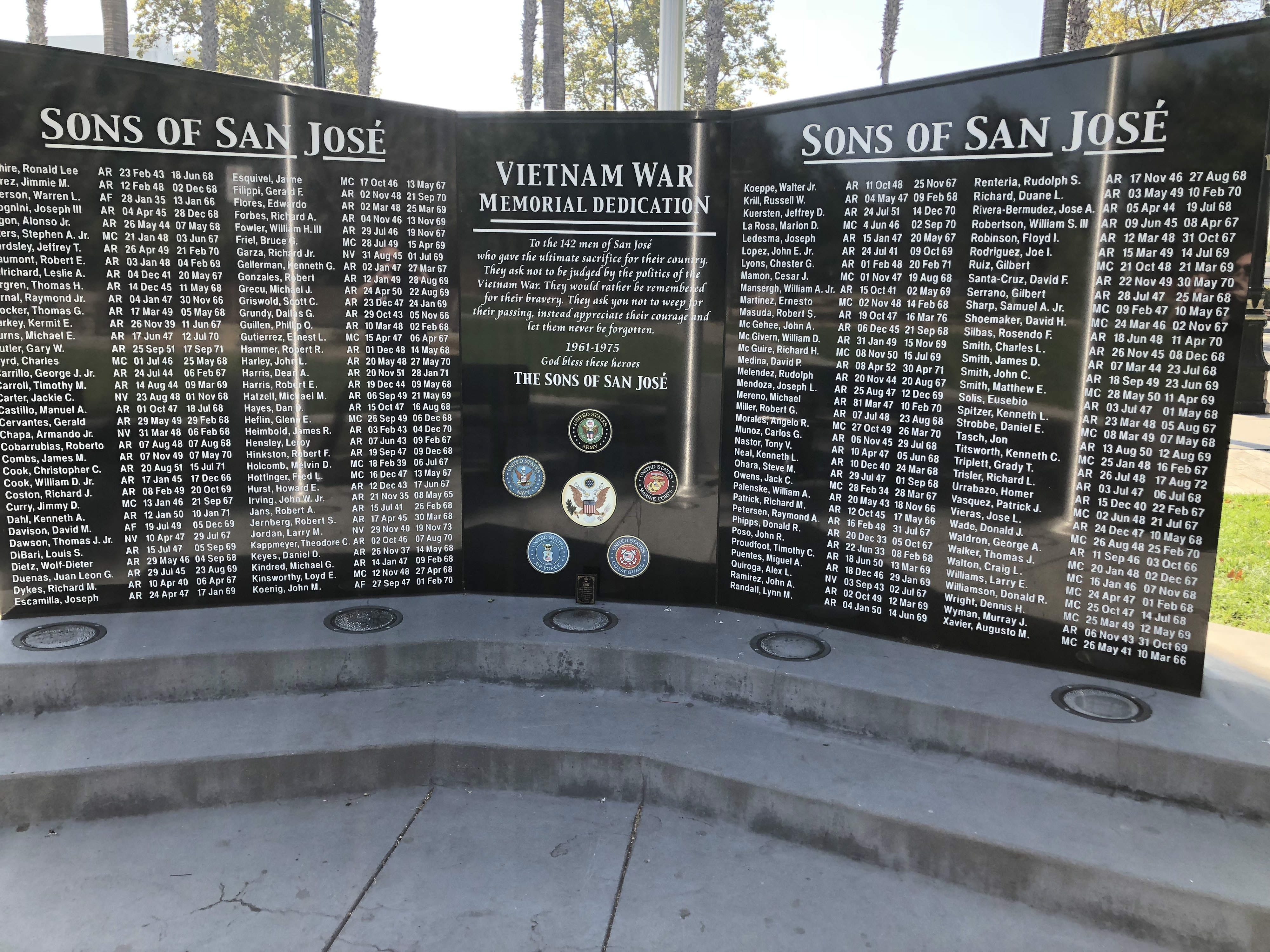 Google Pays To Restore Vandalized Vietnam War Memorial In San Jose Kcbs 740am 106 9 Fm