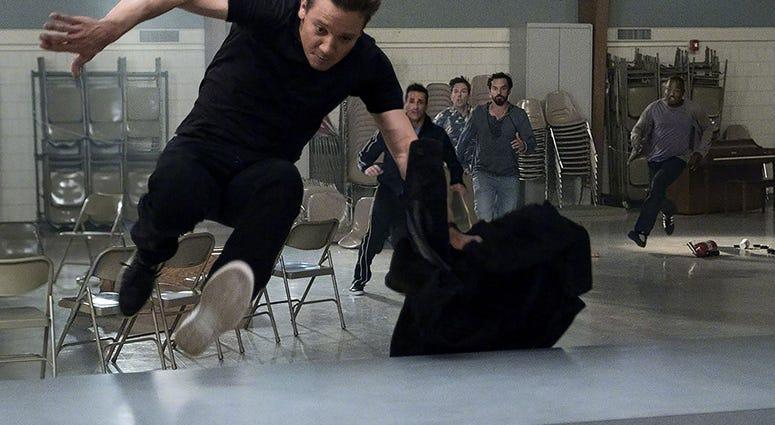 Jeremy Renner, Jon Hamm, Ed Helms, Jake Johnson, and Hannibal Buress in 'Tag' (Photo credit: Warner Bros.)
