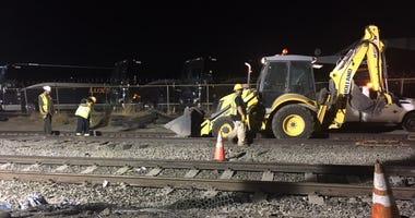 VTA track repair underway in San Jose