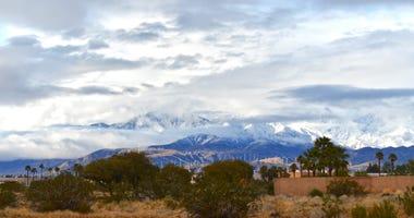 Snow covers San Gorgonio Mountain, the tallest mountain in Southern California, on Thursday, Dec. 26, 2019.