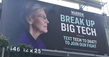 Elizabeth Warren Billboard in San Francisco