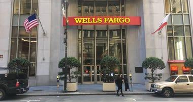 Wells Fargo on California Street in downtown San Francisco.
