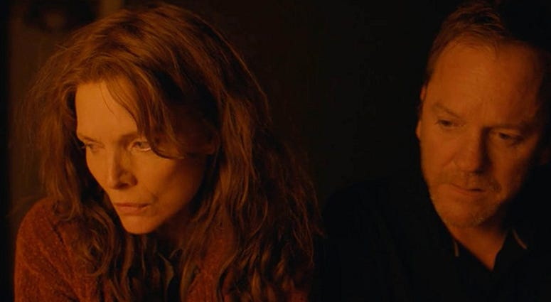 """Michelle Pfeiffer and Kiefer Sutherland in """"Where Is Kyra?"""""""