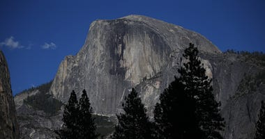A view of Half Dome in Yosemite National Park on August 28, 2013.